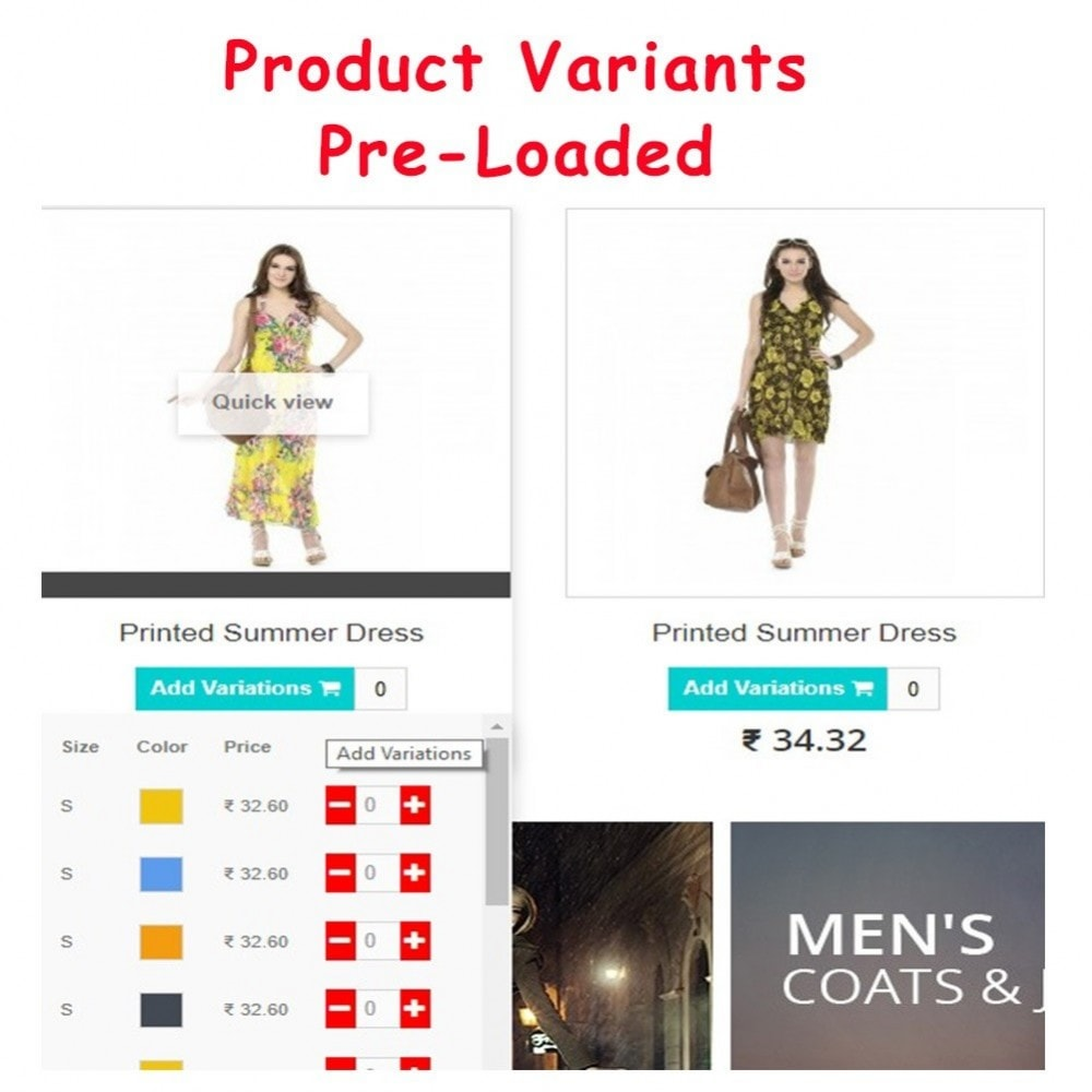 module - Bestelproces - Quick Add to Cart Products Combinations with Quantity - 2