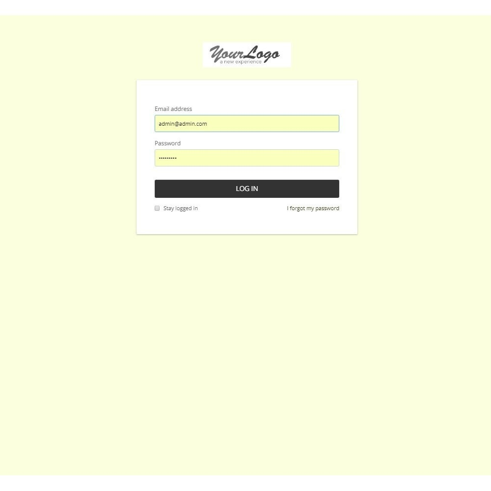 module - Personalização de página - Design Style for Admin Back Office and Login Page - 7