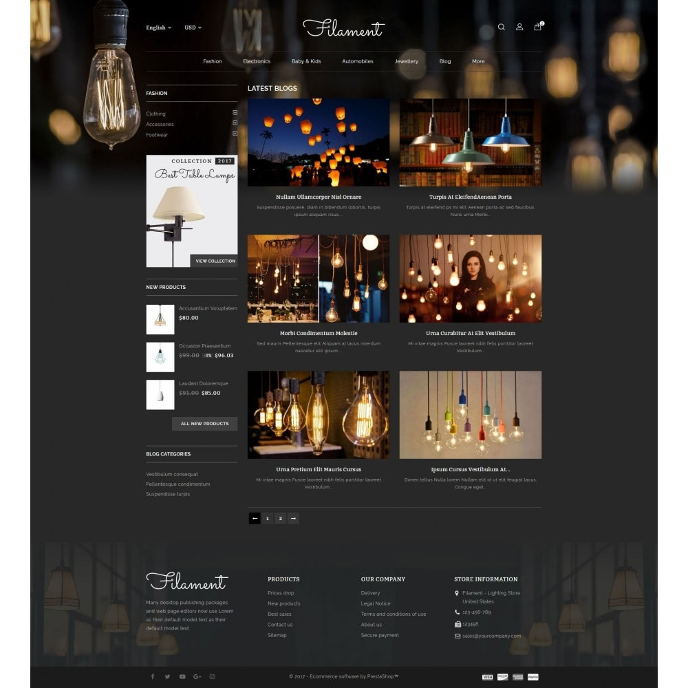 theme - Home & Garden - Filament - Lighting Store - 9