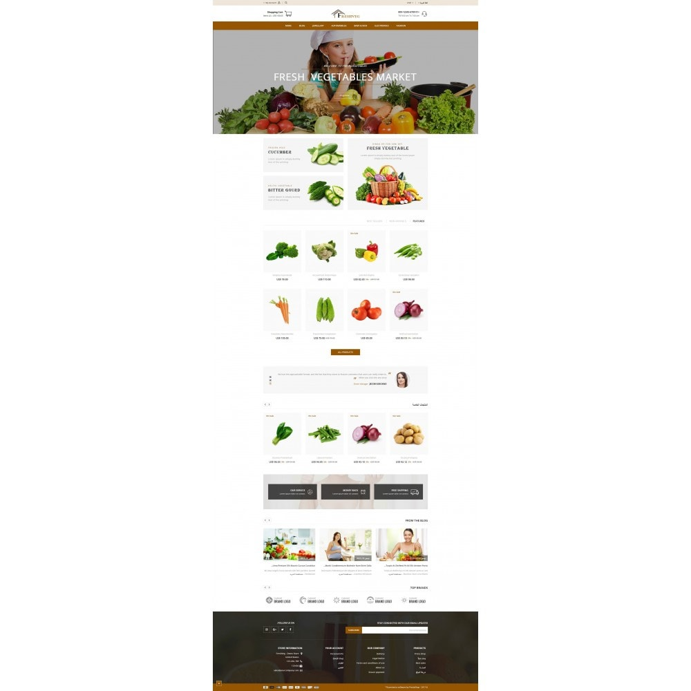 theme - Cibo & Ristorazione - Fresh Vegetable Shop - 10