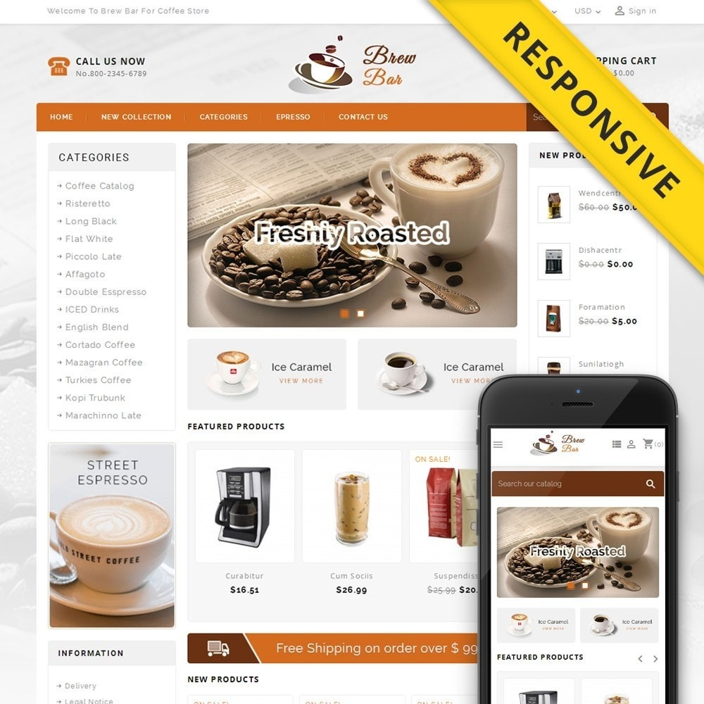 theme - Alimentos & Restaurantes - Brew Bar - Coffee Store - 1