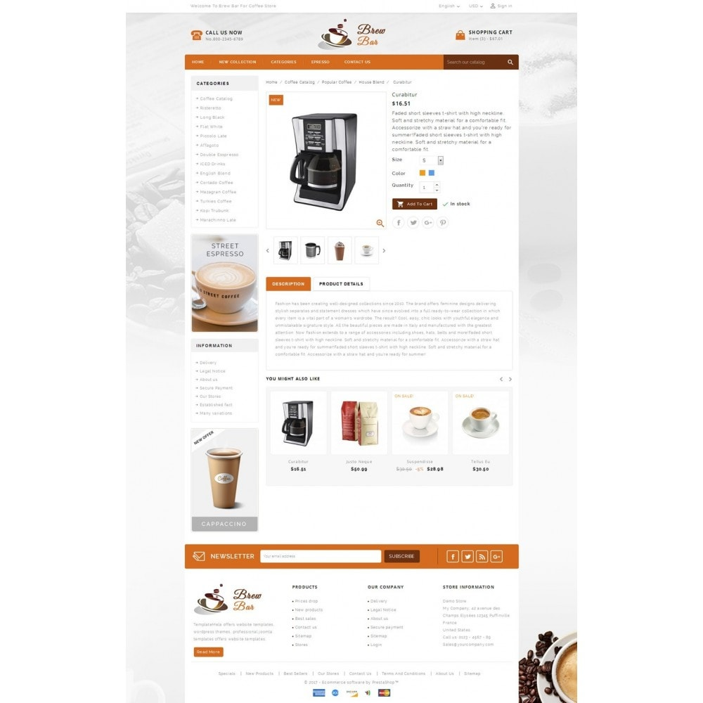 theme - Продовольствие и рестораны - Brew Bar - Coffee Store - 5