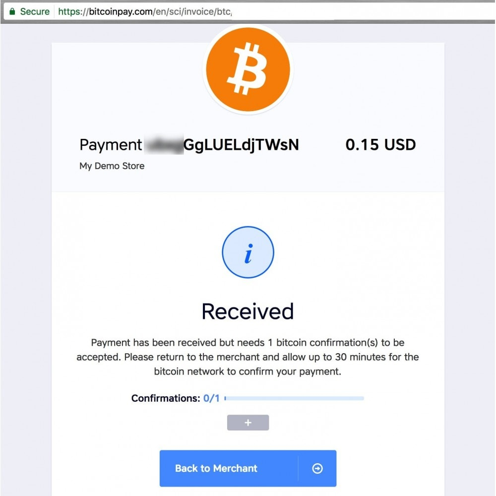 module - Payment by Card or Wallet - BitcoinPay accept bitcoin - 4