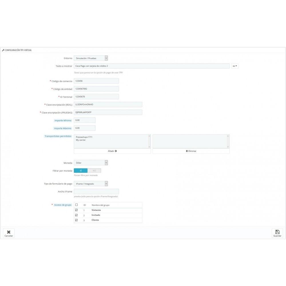 module - Pago con Tarjeta o Carteras digitales - TPV CECA COMPLETO (Pago seguro + Devoluciones) - 4