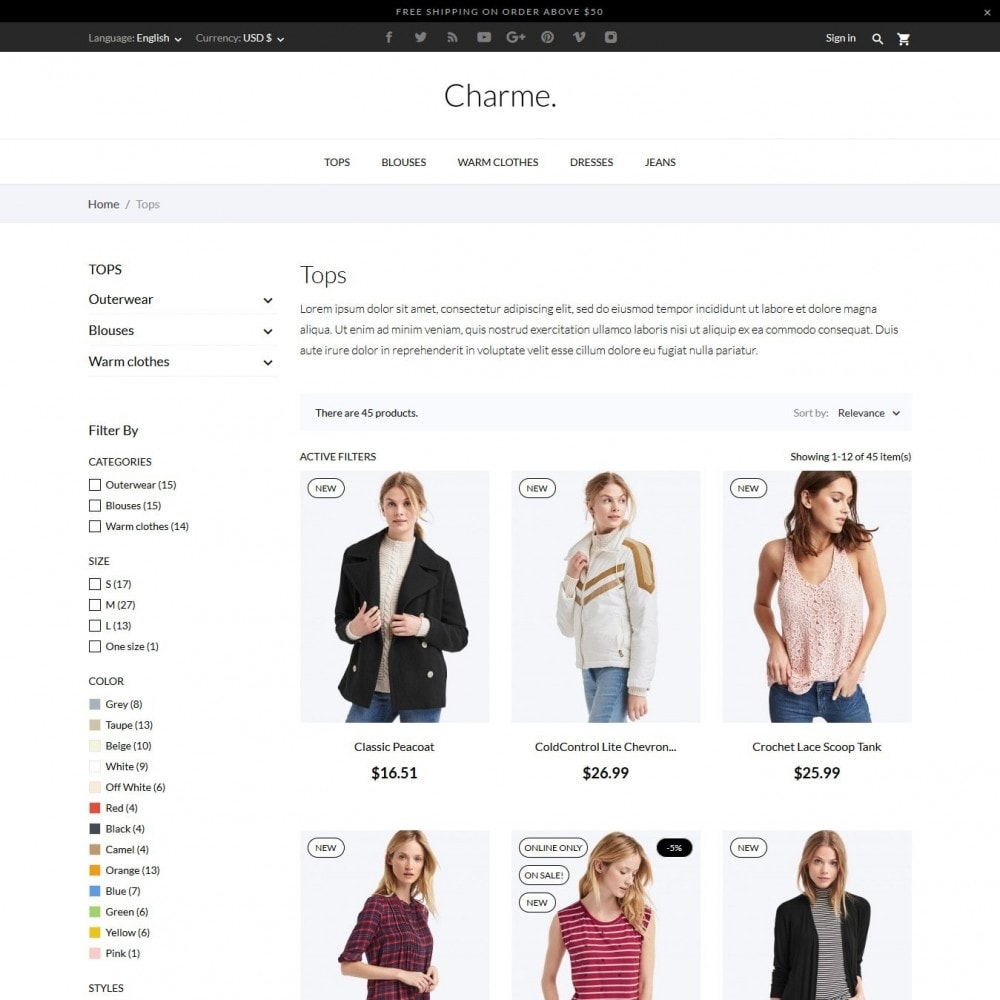 theme - Mode & Chaussures - Charme Fashion Store - 5