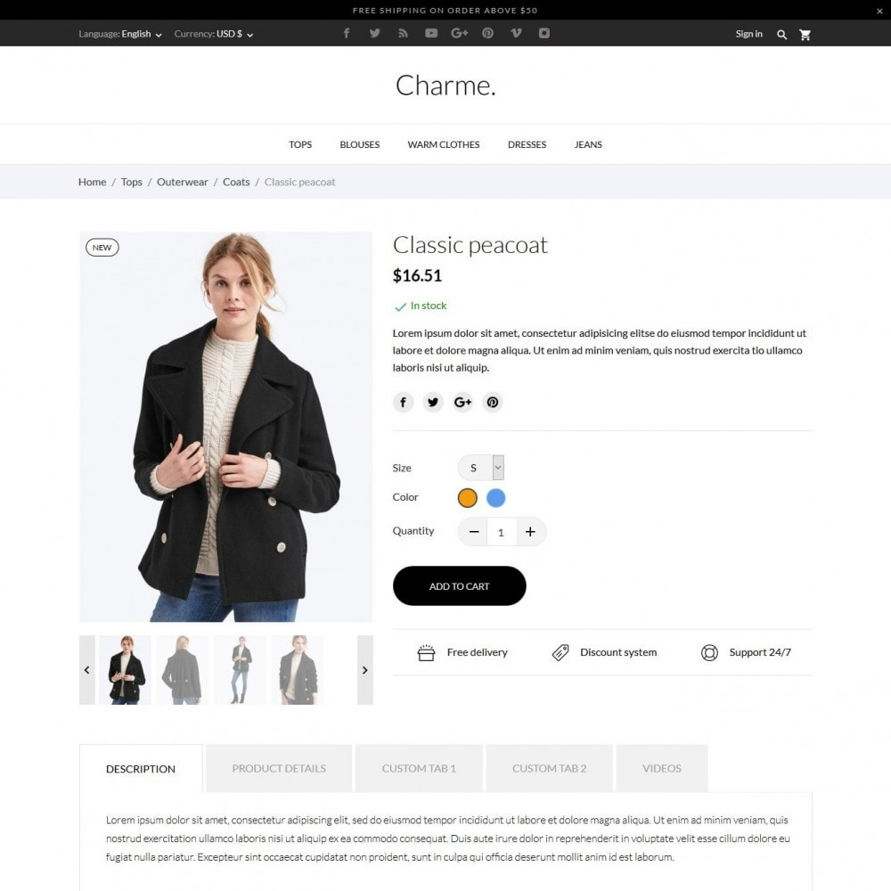theme - Mode & Chaussures - Charme Fashion Store - 6