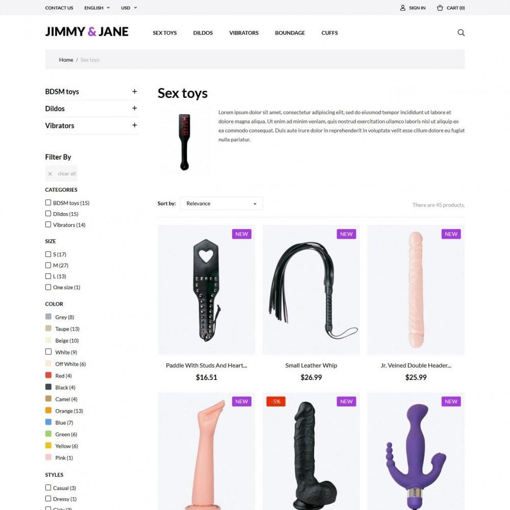 theme - Lingerie & Adulti - Jimmy&Jane - SexShop - 5