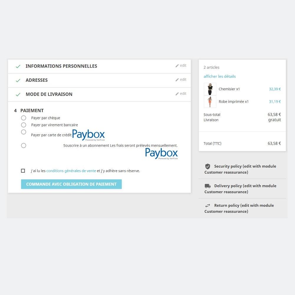 module - Paiement par Carte ou Wallet - Paybox (1.5, 1.6 & 1.7) - 6