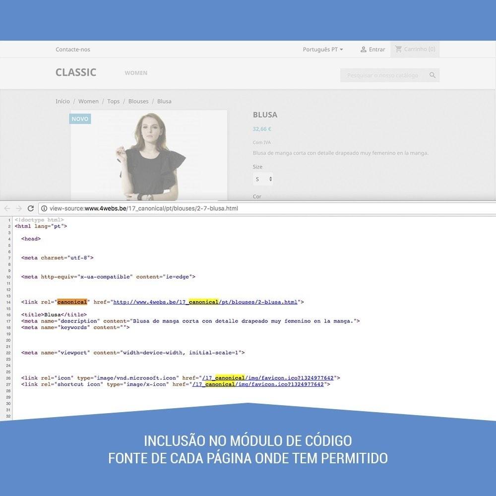 module - Gestão de URL & Redirecionamento - Canonical SEO - 5