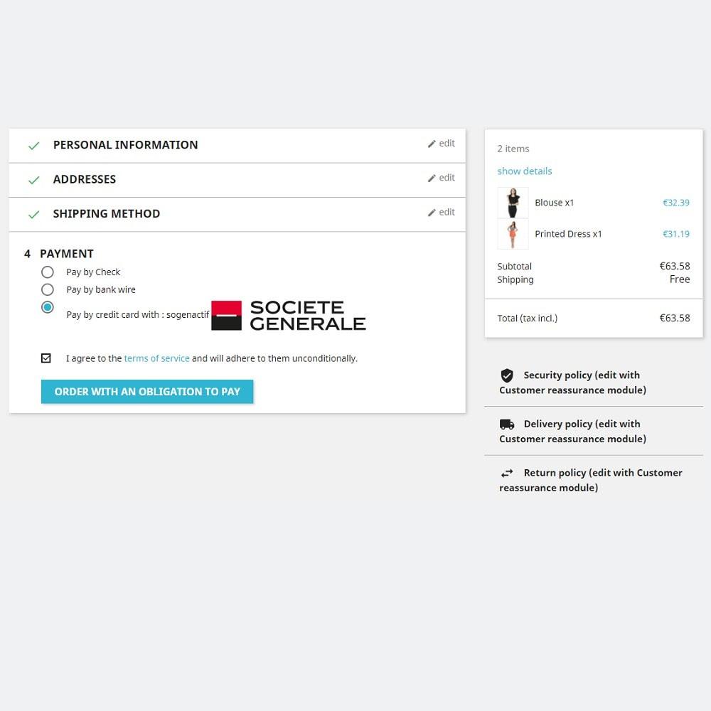module - Płatność kartą lub Płatność Wallet - Sogenactif 2.0 - Société Générale Atos Sips Worldline - 2
