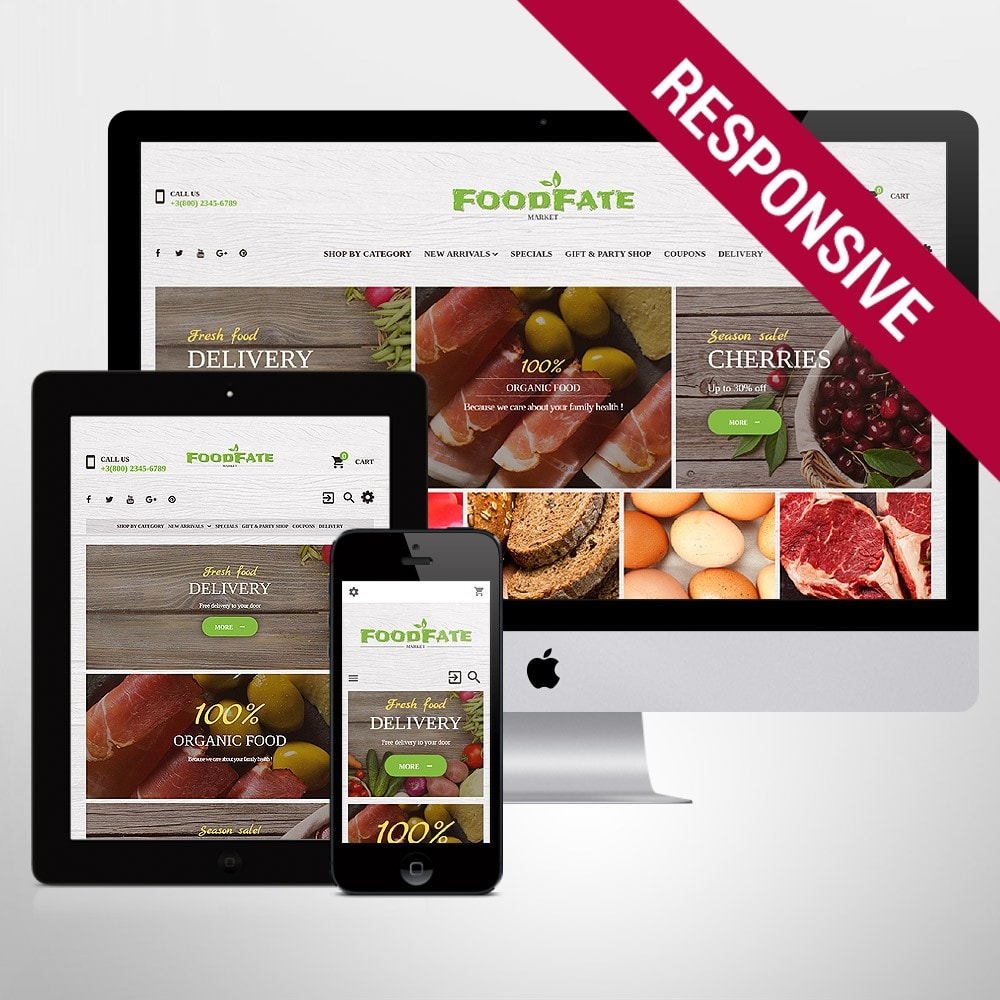 theme - Food & Restaurant - FoodFate - Supermarket - 1