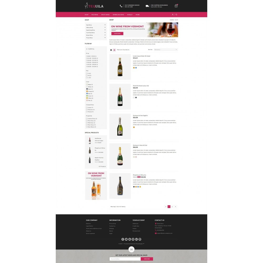 theme - Drink & Wine - Tequila - The Wine Store - 3
