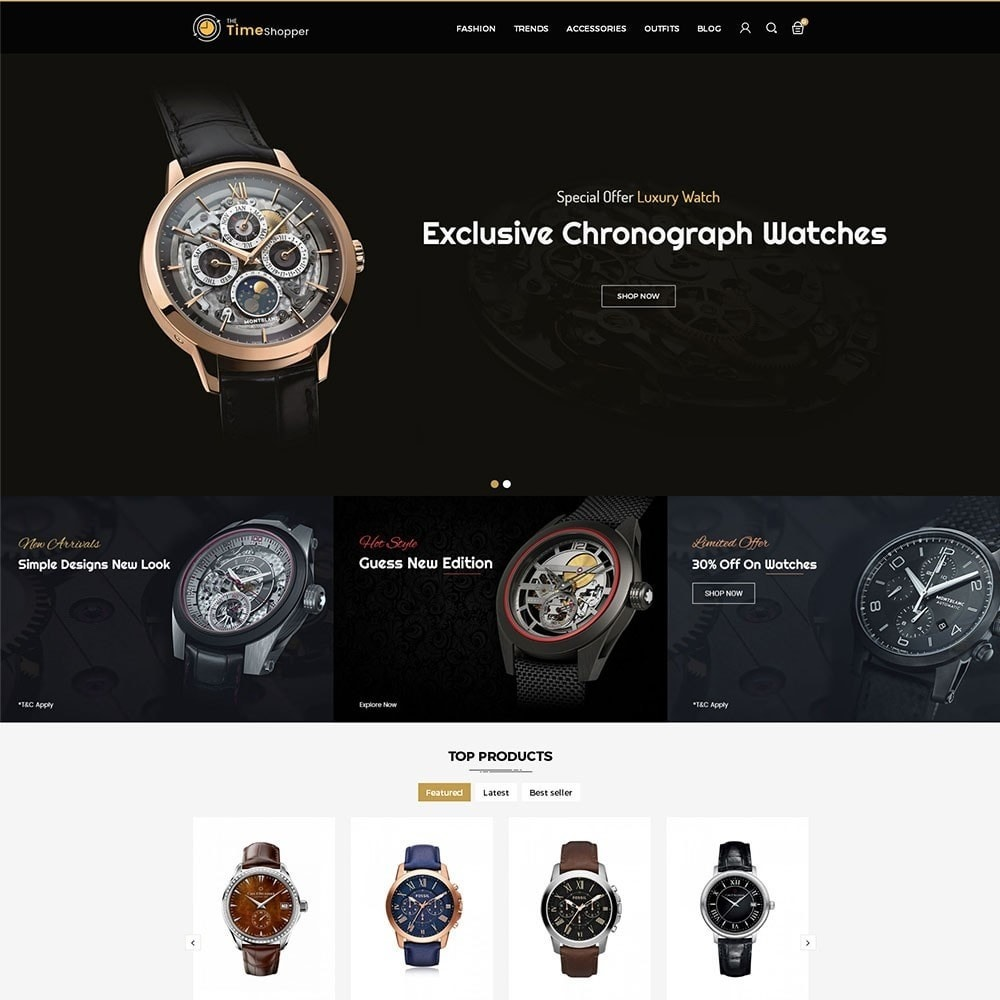 theme - Jewelry & Accessories - Time Shopper Watch Store - 2