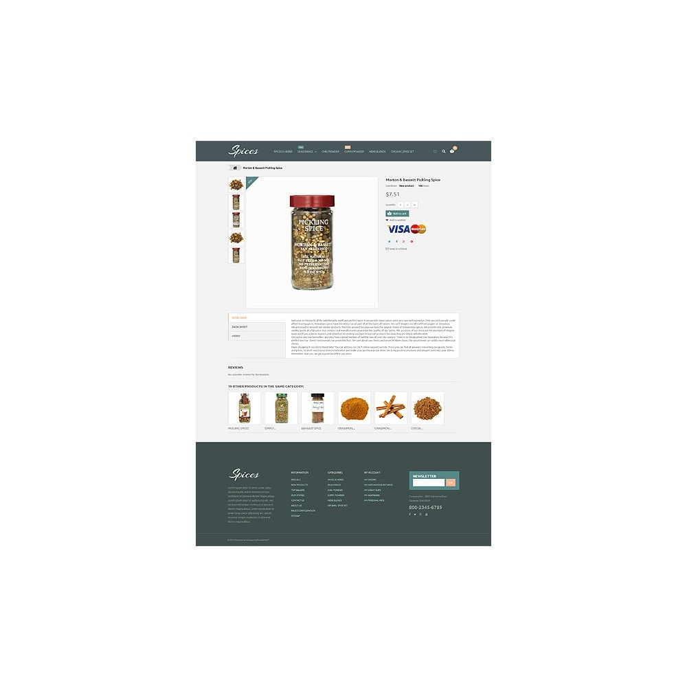 theme - Alimentation & Restauration - Spice Shop - 7