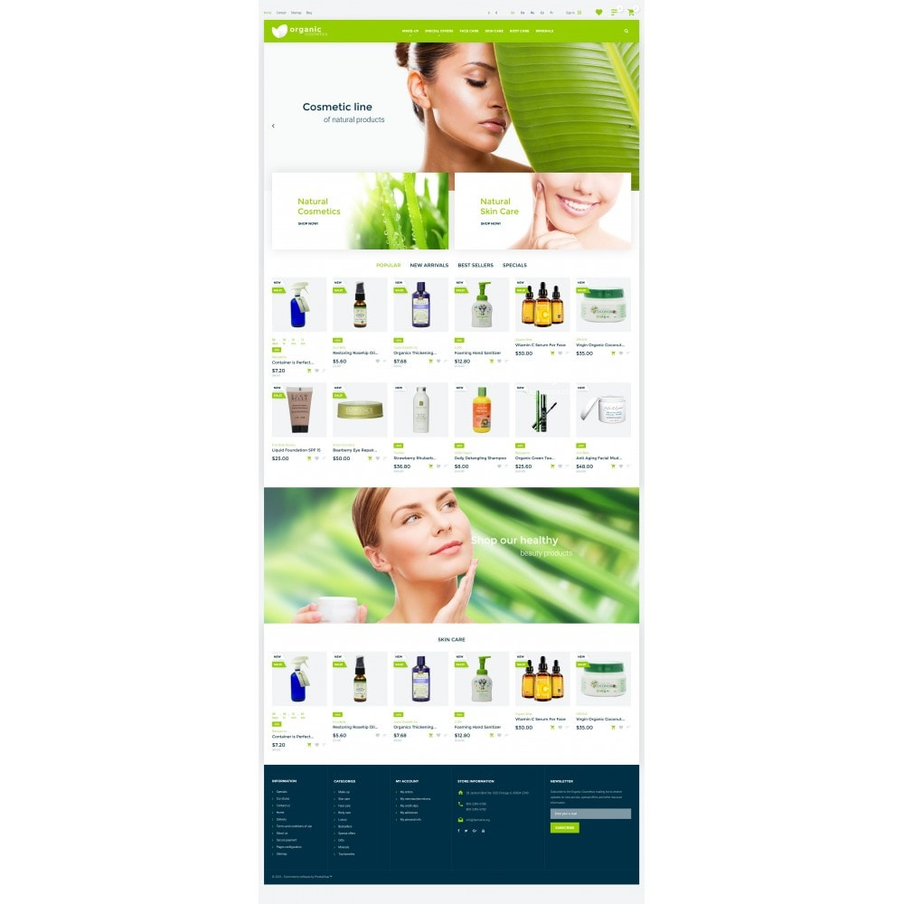 theme - Moda y Calzado - Organic cosmetics - responsive - 4