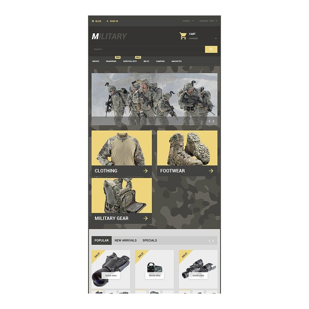 theme - Thèmes PrestaShop - Military - 7