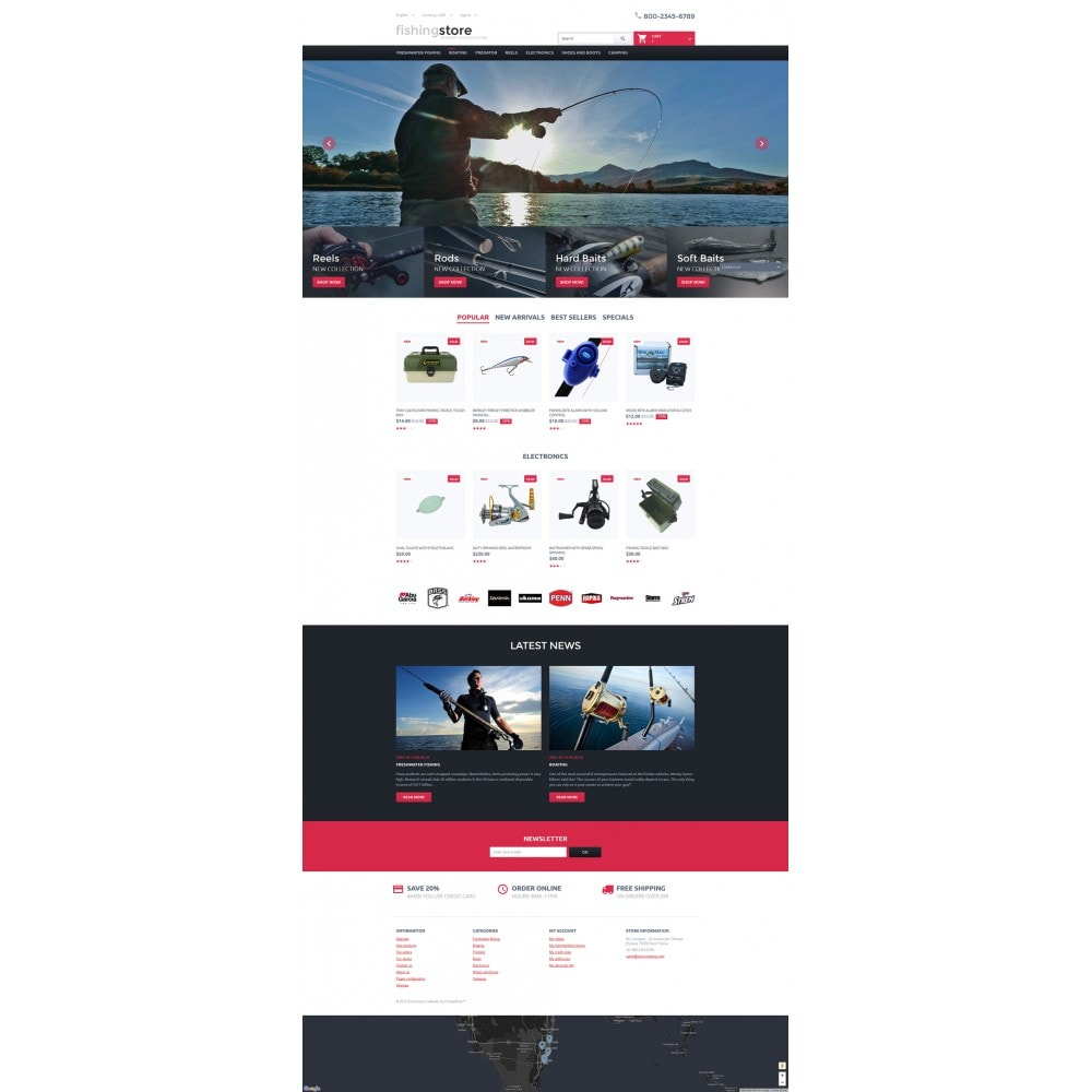 theme - Sports, Activities & Travel - Fishing Store - 2