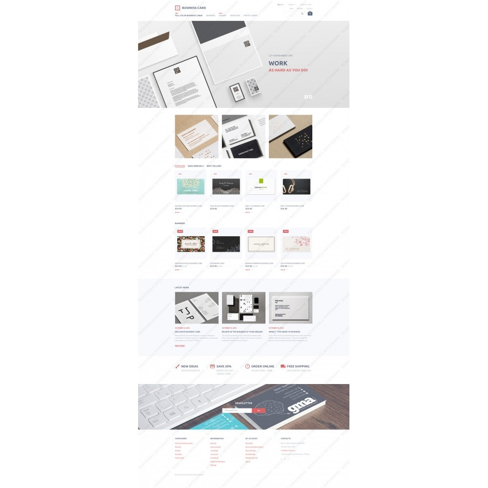 theme - PrestaShop Templates - Business Card - 3