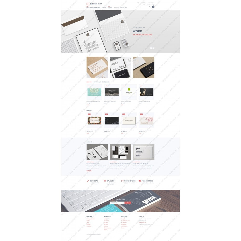 theme - PrestaShop Templates - Business Card - 5
