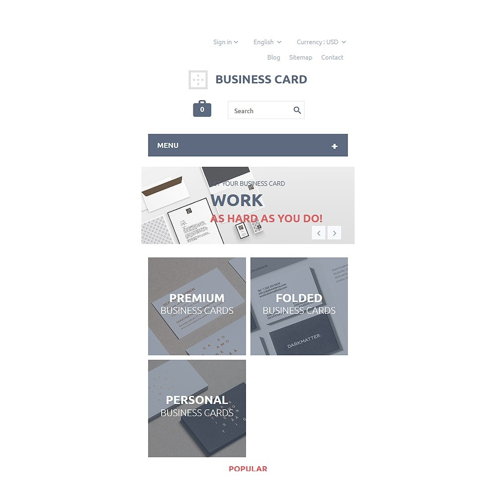 theme - Template PrestaShop - Business Card - 8