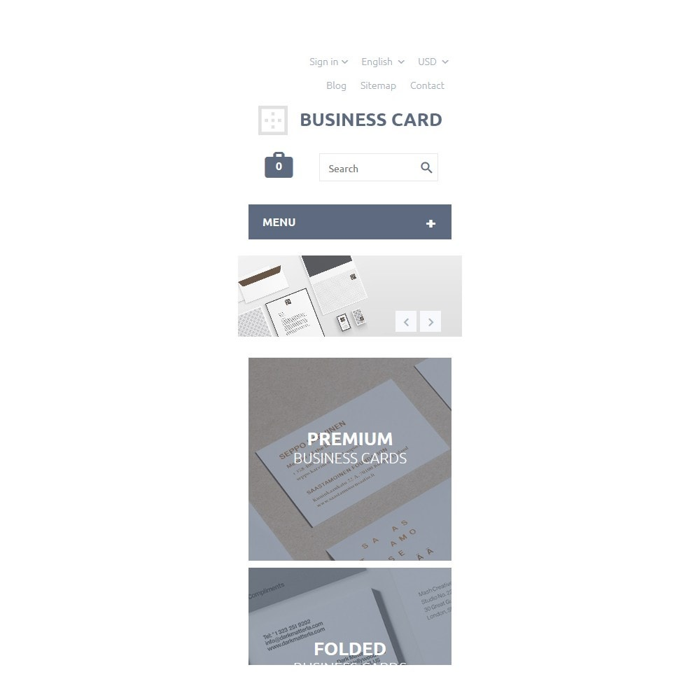 theme - PrestaShop Templates - Business Card - 9