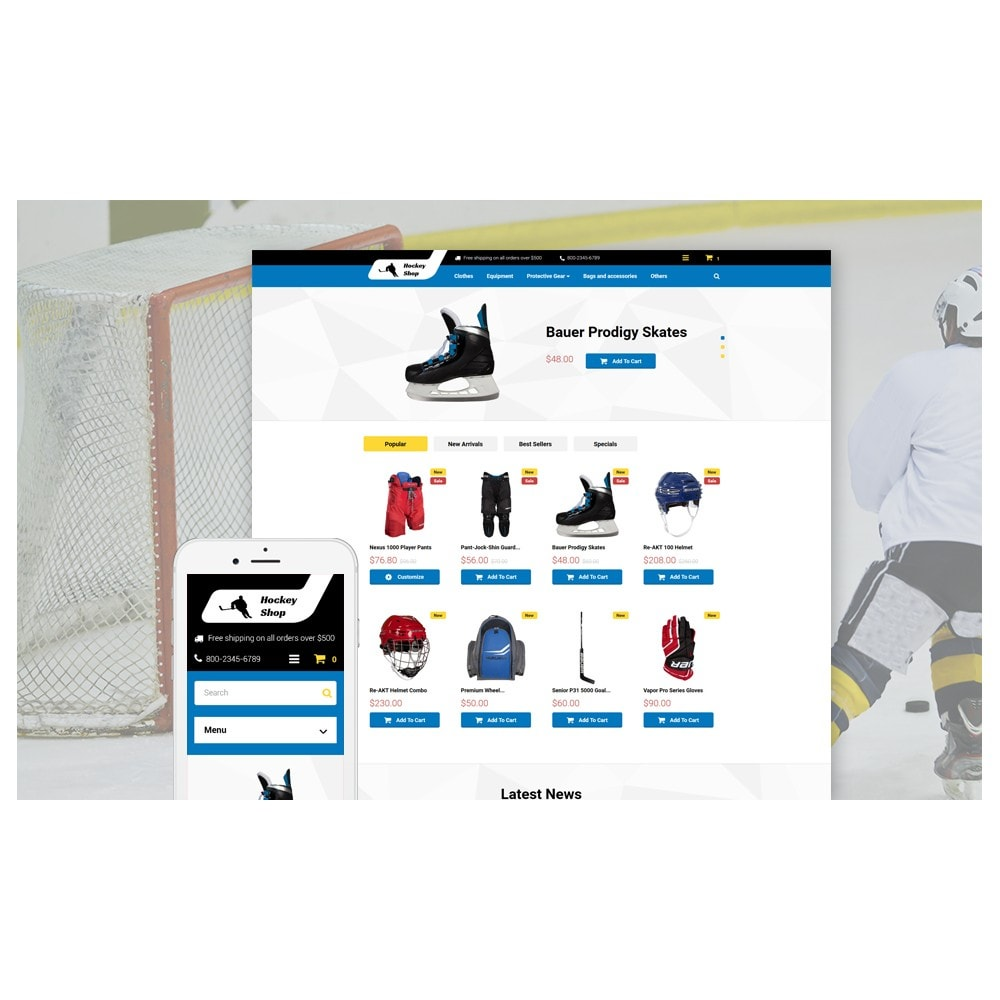 theme - Sports, Activities & Travel - Hockey Shop - 2