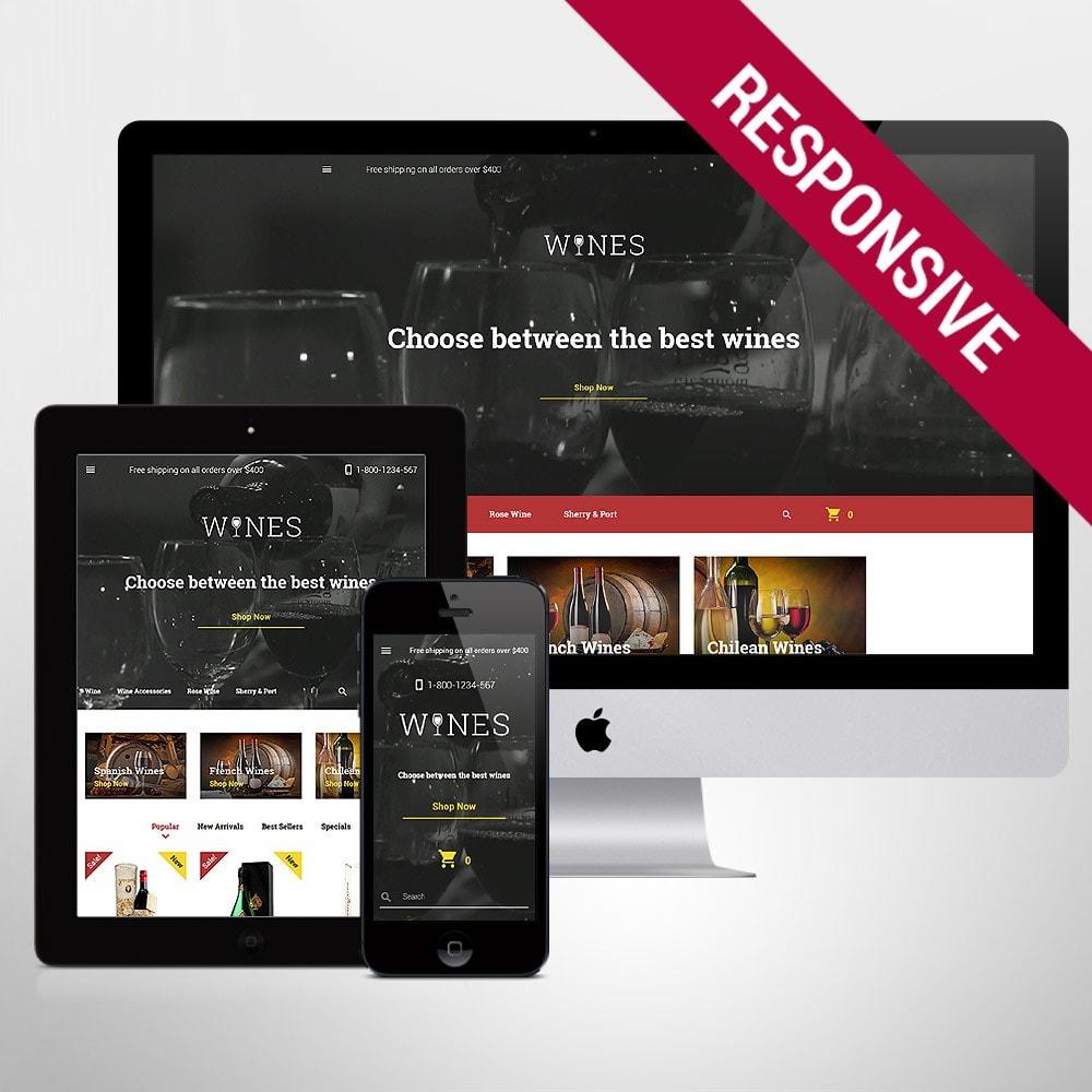 theme - Продовольствие и рестораны - Wines - Wine Template - 1