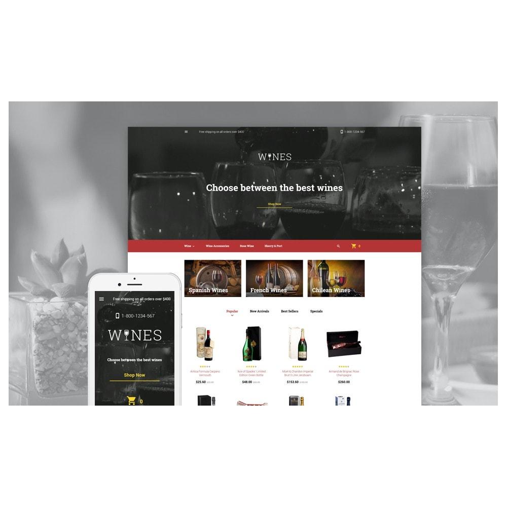 theme - Продовольствие и рестораны - Wines - Wine Template - 2