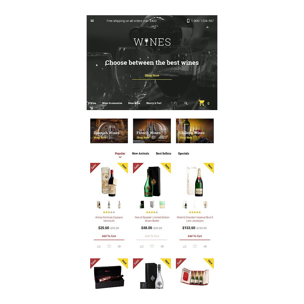 theme - Food & Restaurant - Wines - 7