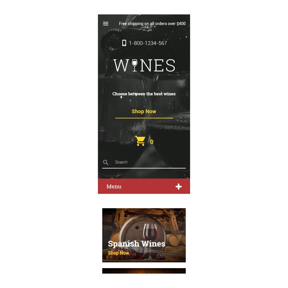 theme - Продовольствие и рестораны - Wines - Wine Template - 9