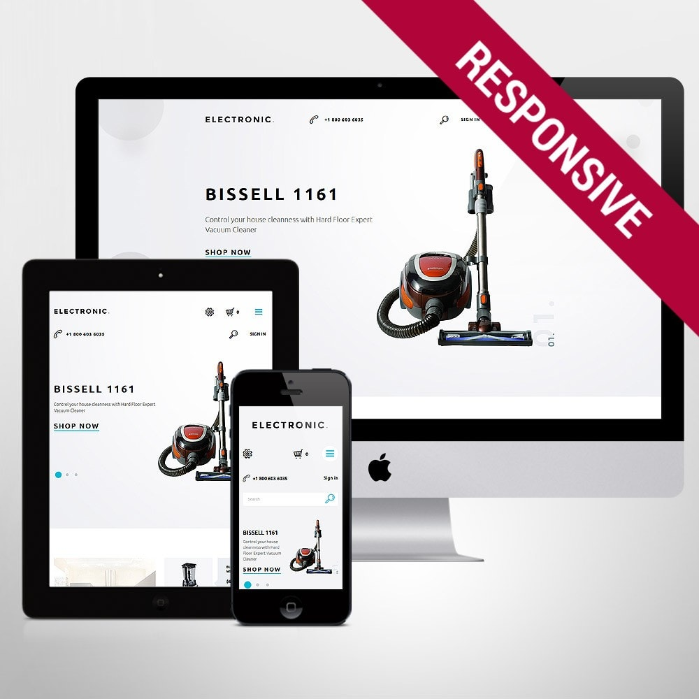 theme - Elektronika & High Tech - White Electronics Store PrestaShop Theme by ArtVertex - 1