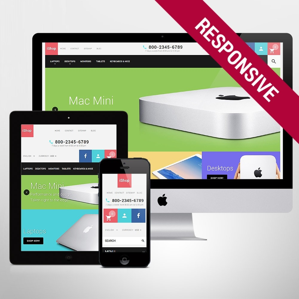 theme - Elettronica & High Tech - White Computer Store PrestaShop Theme by ArtVertex - 1