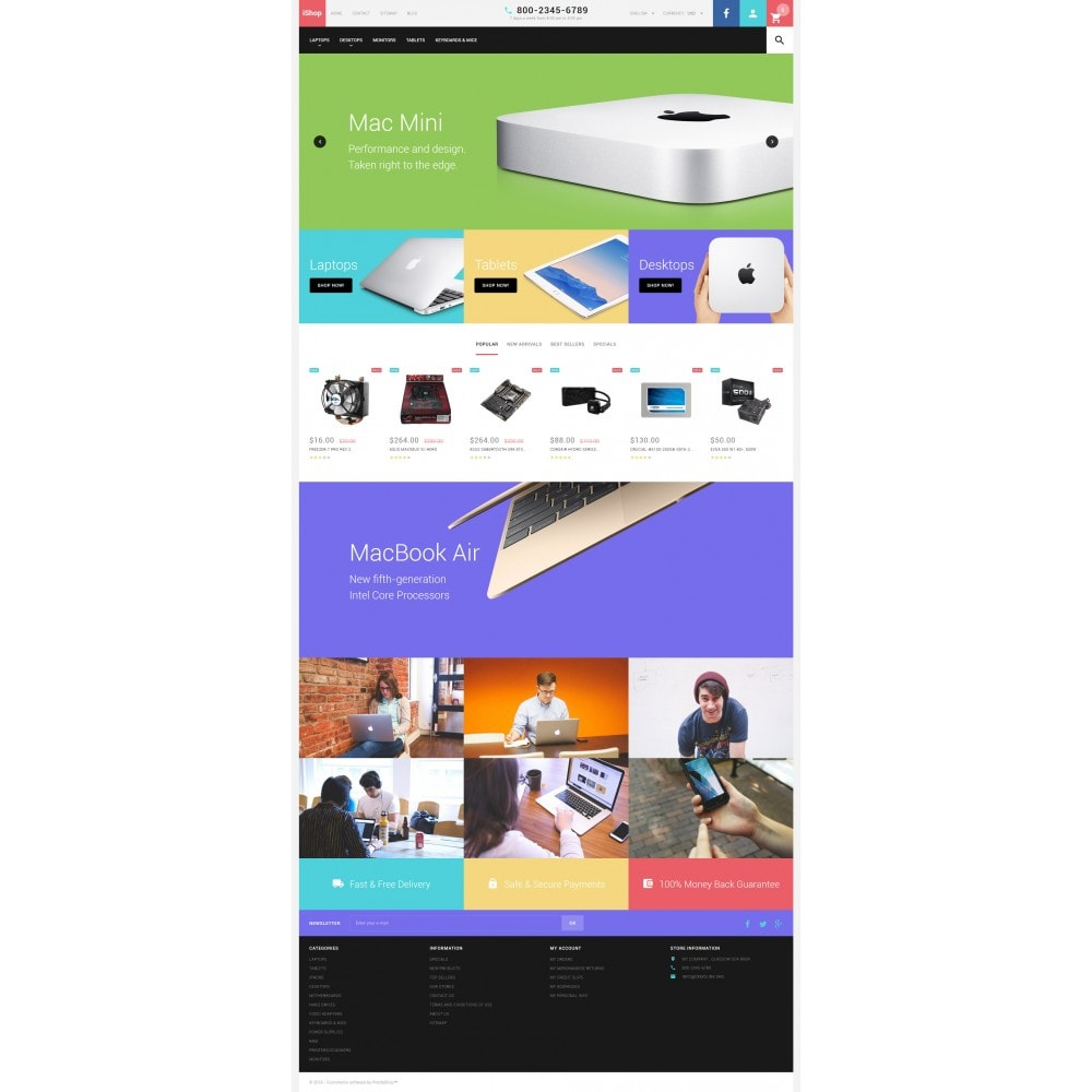 theme - Elektronica & High Tech - White Computer Store PrestaShop Theme by ArtVertex - 4