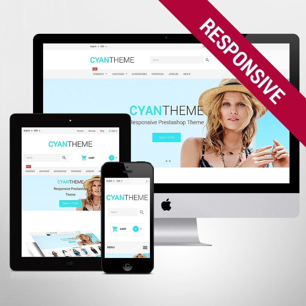 theme - Moda & Calzature - CyanTheme - 1