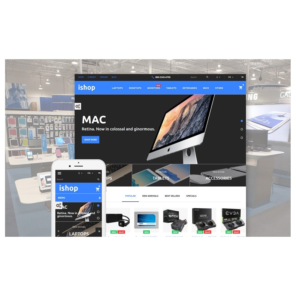 theme - Elektronica & High Tech - iShop - Computer Store - 2