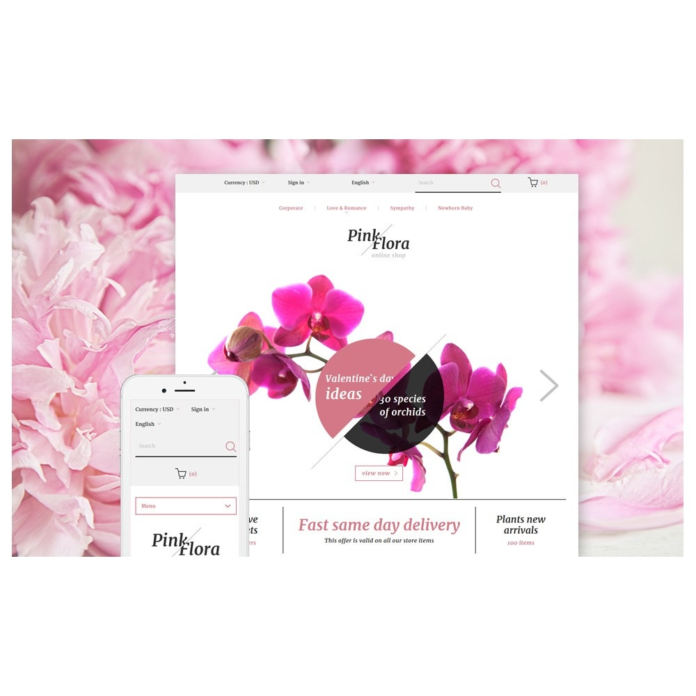 theme - Gifts, Flowers & Celebrations - Pink Flora - 2