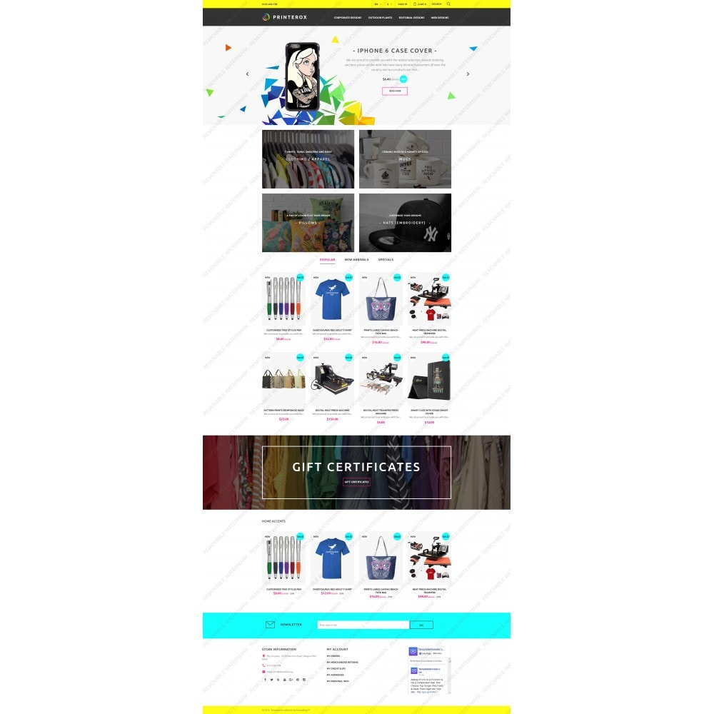 theme - Искусство и Культура - Printerox Design Responsive - 5