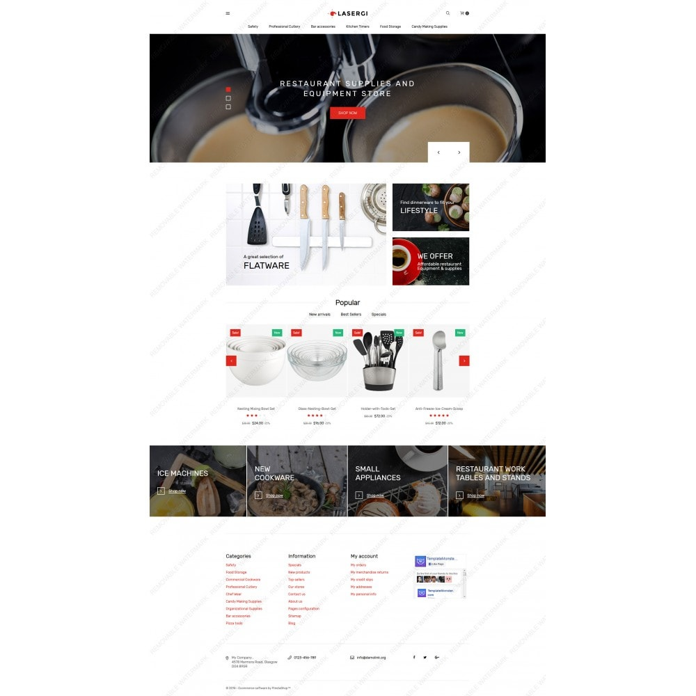 theme - Food & Restaurant - Glasergi - Cookware & Appliances - 3