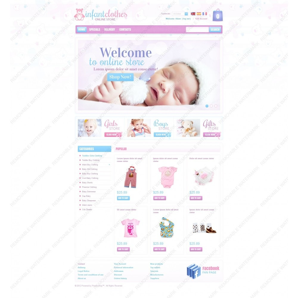 theme - Home & Garden - Infant Clothes - 7