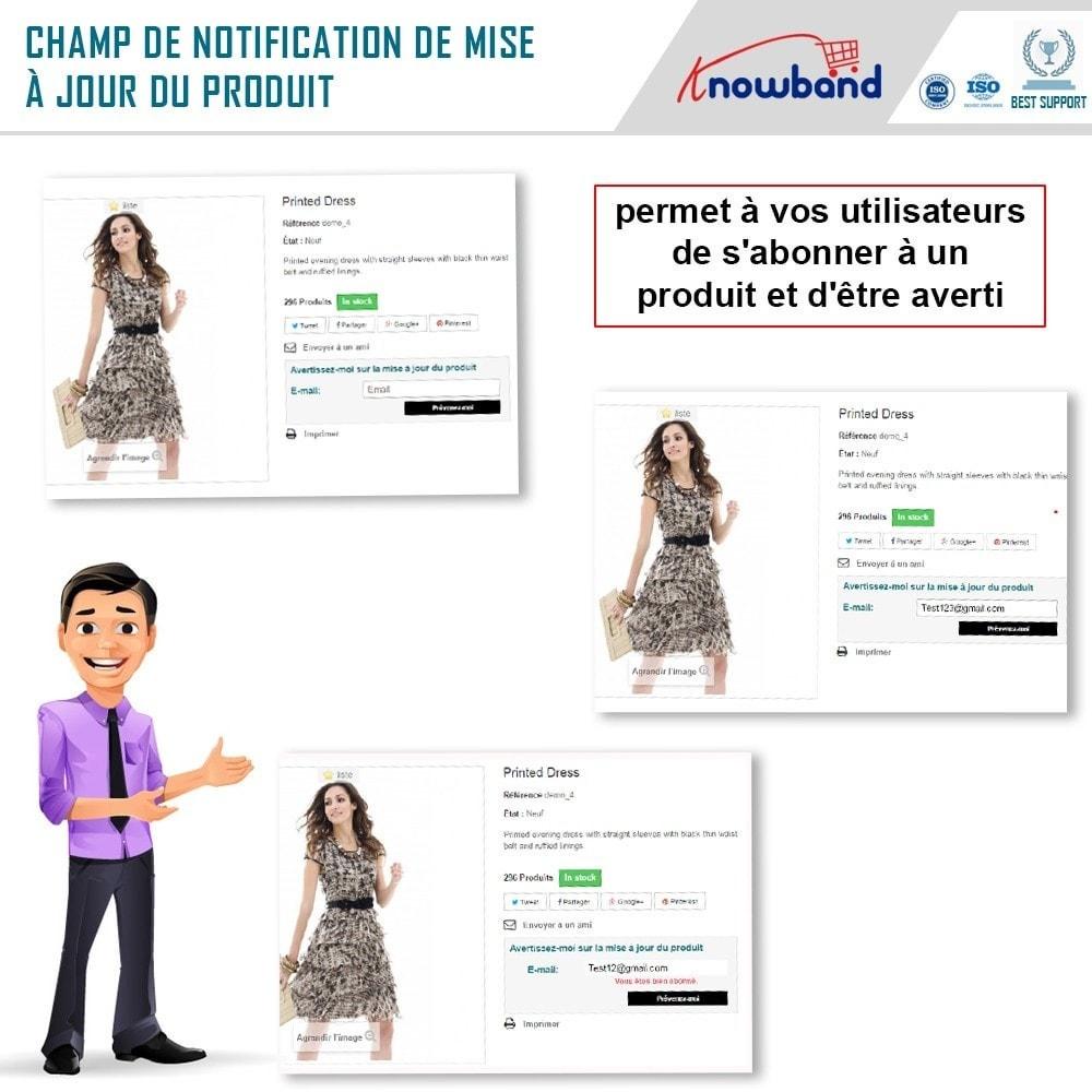 module - E-mails & Notifications - Knowband - Notification de Mise à Jour des Produits - 2