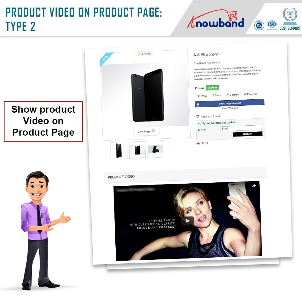 module - Video's & Muziek - Knowband - Product Videos (Youtube,Vimeo & Dailymotion) - 3