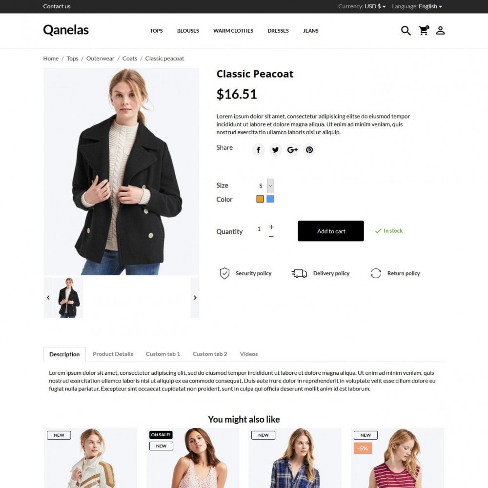 theme - Мода и обувь - Qanelas Fashion Store - 7