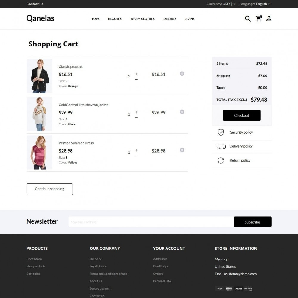 theme - Мода и обувь - Qanelas Fashion Store - 8