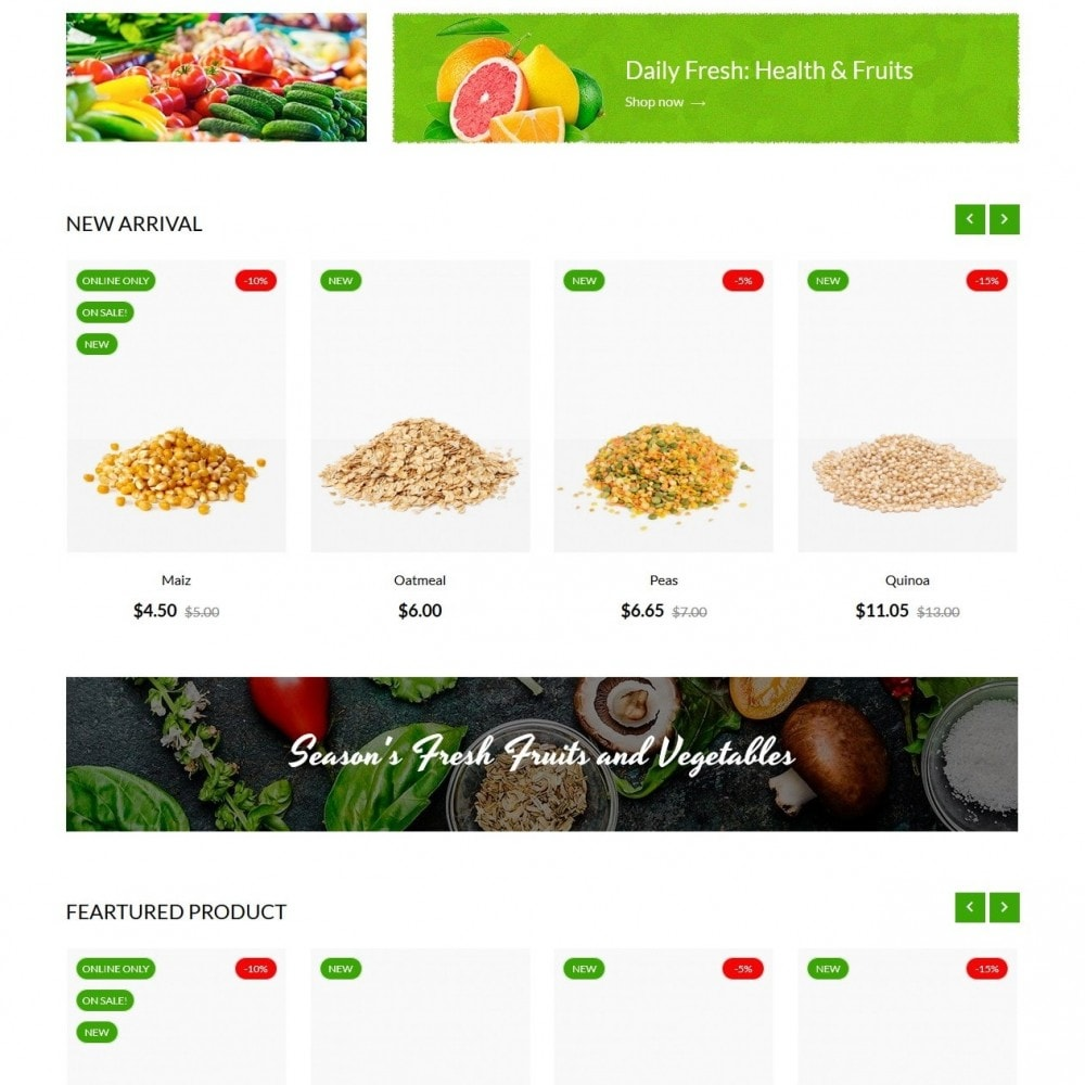 theme - Eten & Restaurant - Earth Food - 2