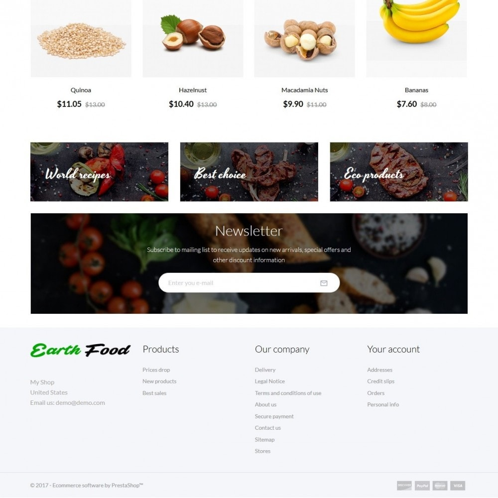theme - Alimentos & Restaurantes - Earth Food - 3