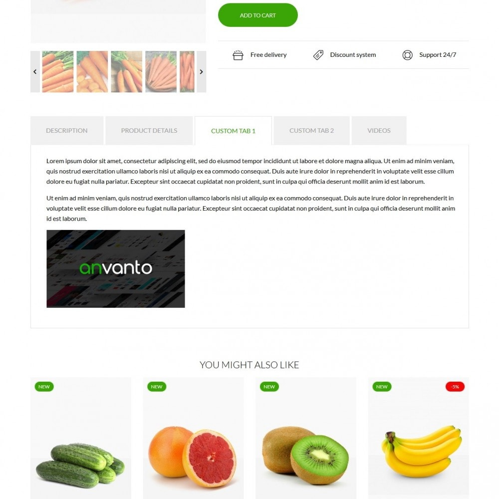 theme - Żywność & Restauracje - Earth Food - 7