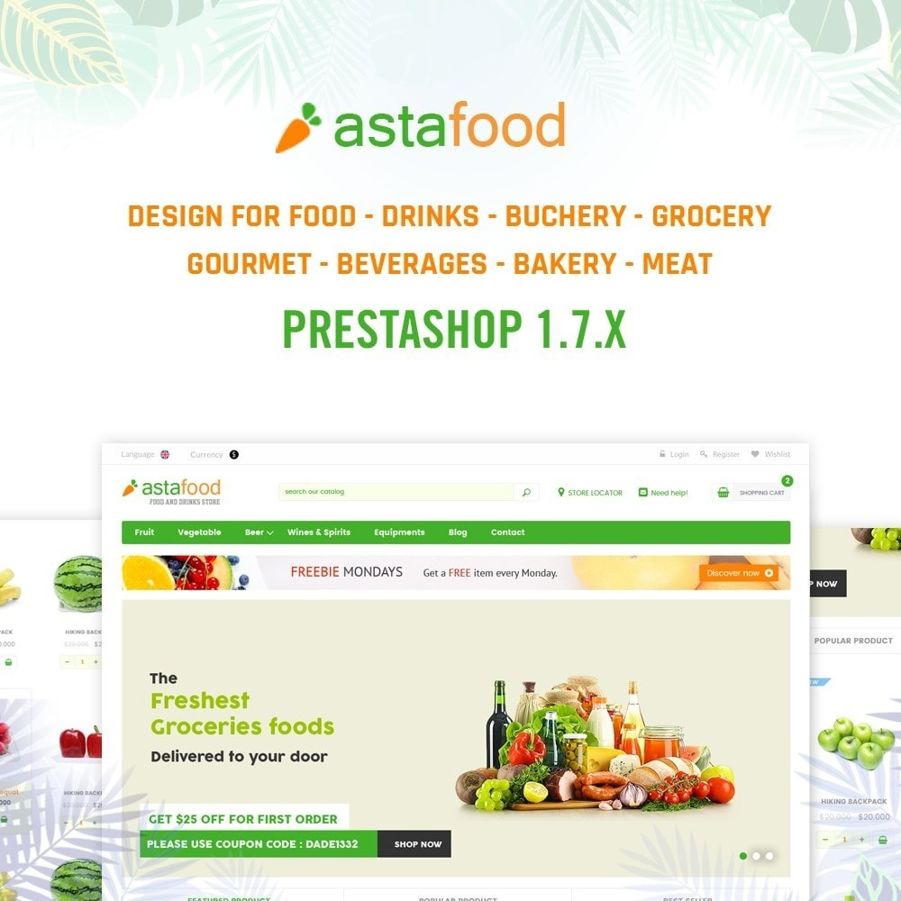 theme - Alimentation & Restauration - Grocery, Gourmet, Meat, Beverages, Food, Drinks Store - 1