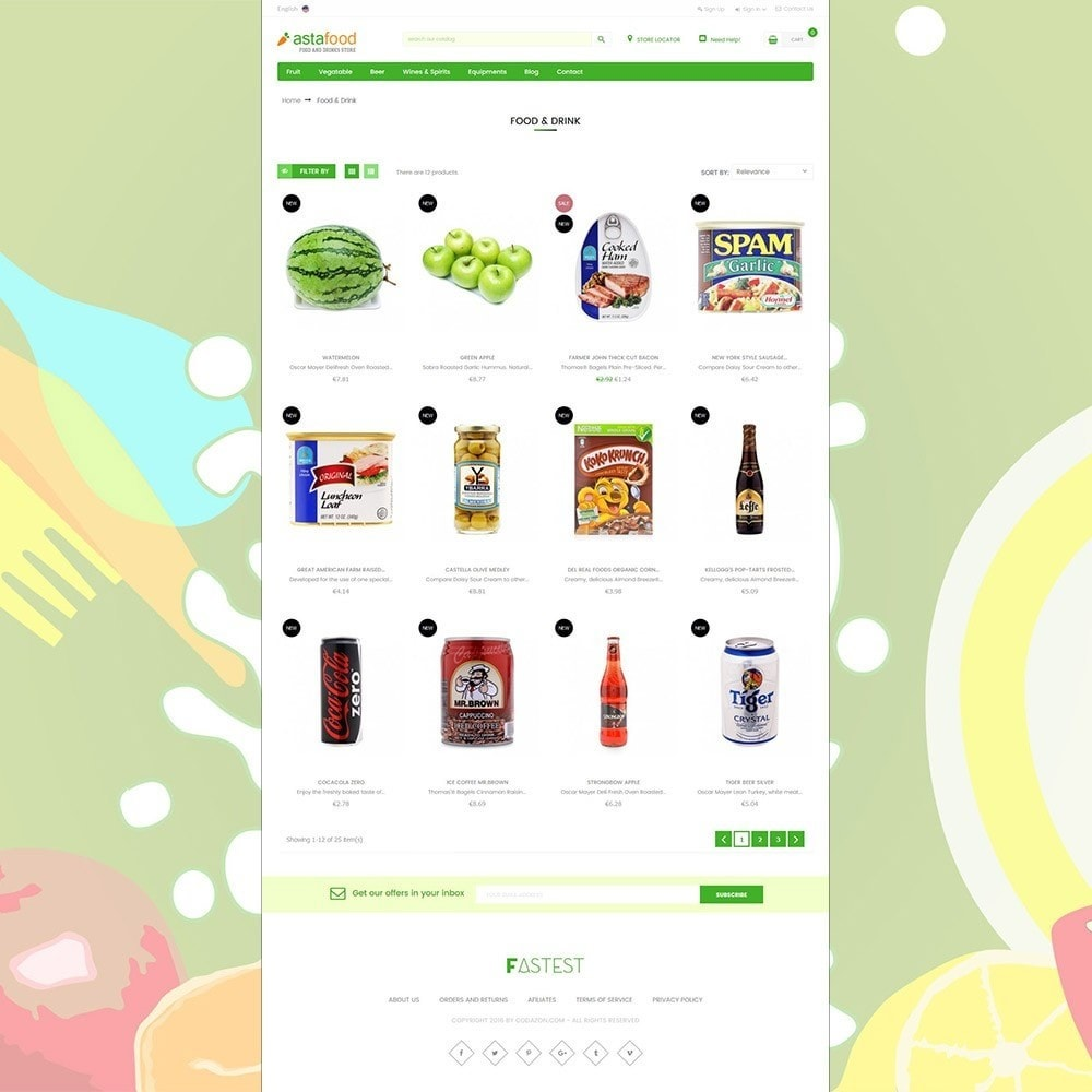 theme - Продовольствие и рестораны - Grocery, Gourmet, Meat, Beverages, Food, Drinks Store - 3