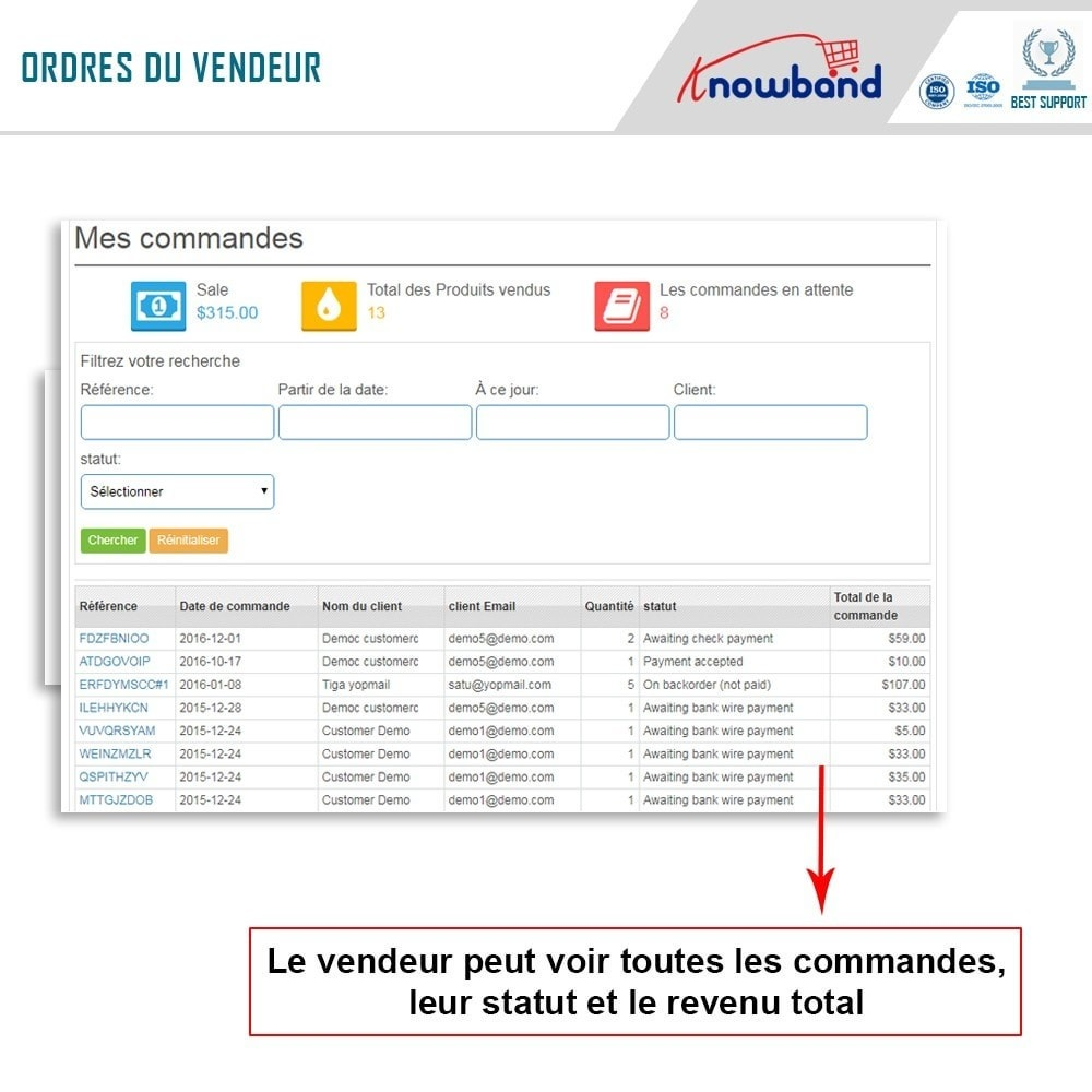 module - Création de Marketplace - Knowband - Multi Vendor Marketplace - 6
