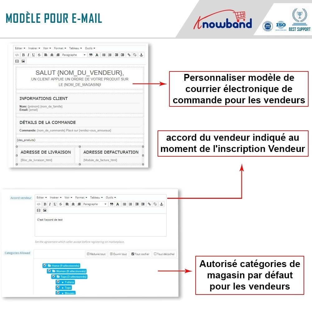 module - Création de Marketplace - Knowband - Multi Vendor Marketplace - 14